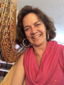 Cymber Lily Quinn, harpist and teacher, Denver